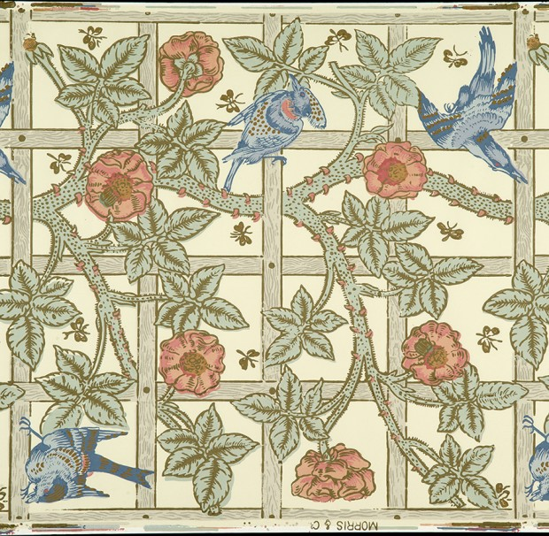Scanned wallpaper sample for the William Morris Gallery collection
