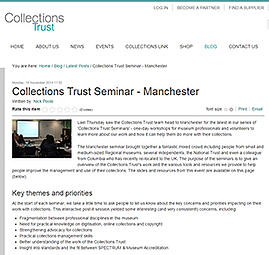 Collections Trust blog image