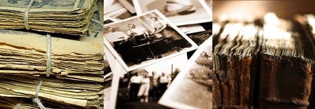 Newspaper, photo, & book archives in disrepair