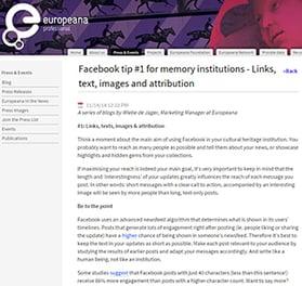 Europeana Pro blog