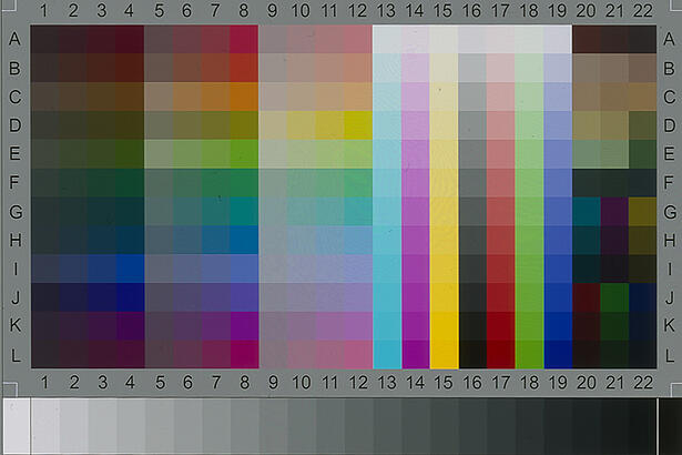 IT8 colour target