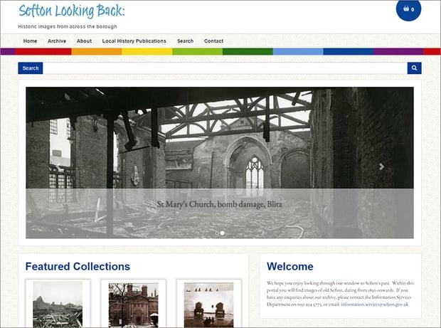 Sefton Looking Back digital archive website