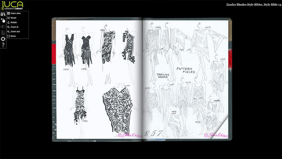 Zandra Rhodes collection digital archive