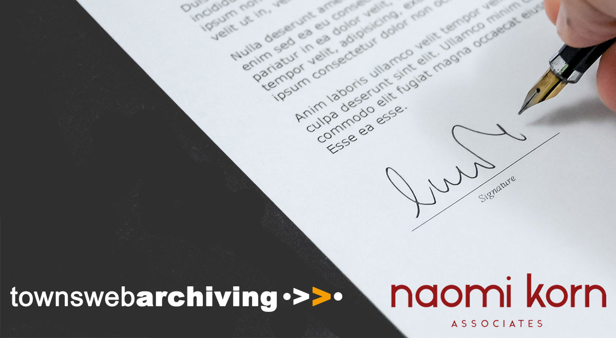 TownsWeb Archiving partners with Naomi Korn Associates